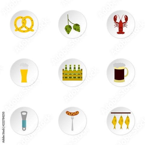 Fotografía  Alcoholic beverage icons set