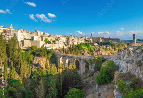 Gravina in Puglia (Italy) - The suggestive old city in stone like Matera, in province of Bari, Apulia region Canvas Print
