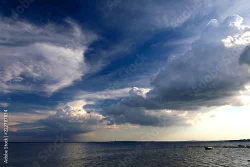 Poster Mer / Ocean Wolken