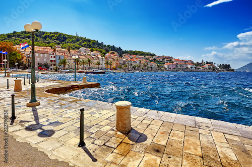 Fotografie, Obraz  Historic architecture old town and majestic landscape in Croatia, popular touris