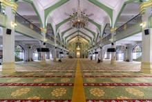 Interior Of Sultan Masjid Mosque At Kampong Glam, Singapore