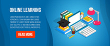 Online Learning Concept Banner...