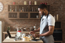 Black Man Baking Pastry With R...