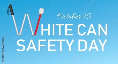 Slika na platnu White cane october day concept banner