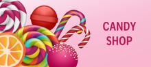 Lollipop Candy Shop Concept Ba...