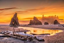 Olympic National Park, Washington, USA At Ruby Beach