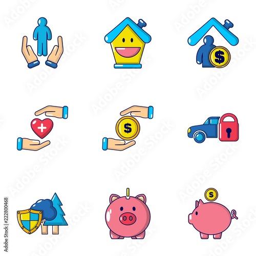 Photo Accumulated finances icons set