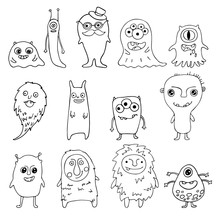 Collection Of Doodle Monsters