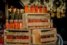 Sweet Honey Jars In Crates