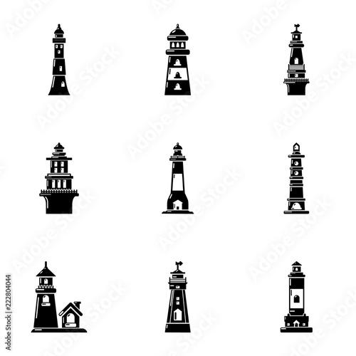 Foto  Landmark icons set