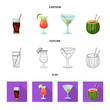 Vector design of drink and bar icon. Set of drink and party stock symbol for web.