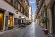 Italian Street Via Borgogna in Rome, Famous Shopping Street.