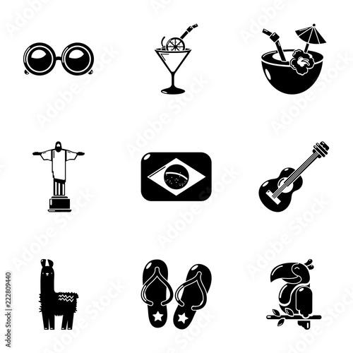 Foto  Brazilian trip icons set