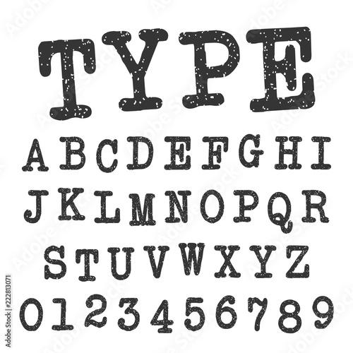 Fotografía  Type alphabet font template