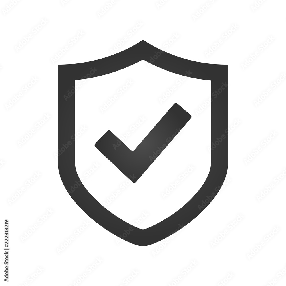 Fototapety, obrazy: Shield check mark logo icon design template, vector illustration.
