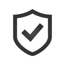 Shield Check Mark Logo Icon De...