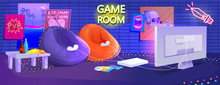Teen Game Room Interior. Play ...