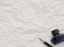 Ink Pot And Nib Pen