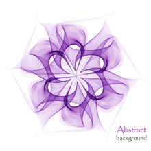 Abstract Bright Flower On A White Background