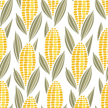Corn Cob Maize Seamless Pattern