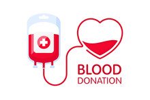 Donate Blood Concept With Bloo...