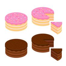 Cake Illustration Set