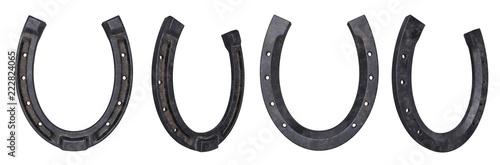 Fotografiet HorseShoe of steel isolated on white, 3d rendering