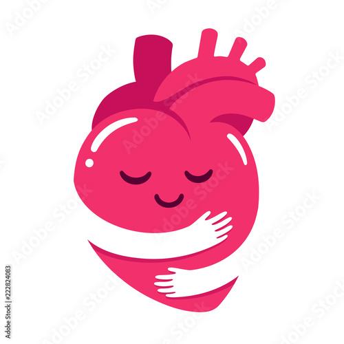 Fototapeta Love yourself heart hug