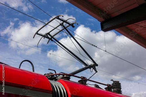 Vászonkép Stromabnehmer einer Elektrolok
