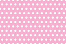 Seamless Background Of White Polka Dots On Pink