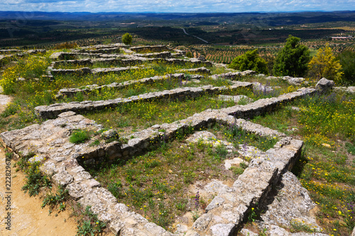 Tuinposter Historisch geb. san antonio settlement in spain