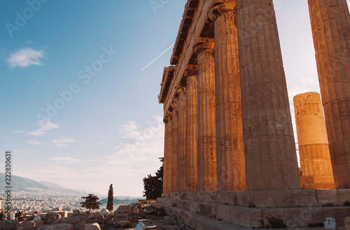 Athens cityscape from aerial view Canvas Print