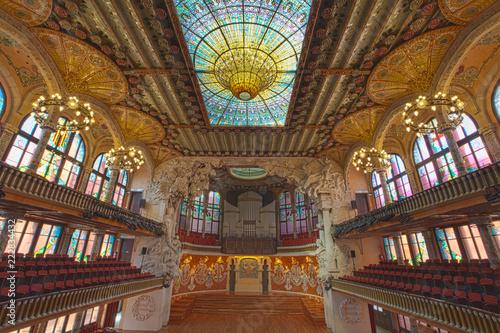 Hall at Palau de la musica catalana, Barcelona, Spain, 2014 - 222834432