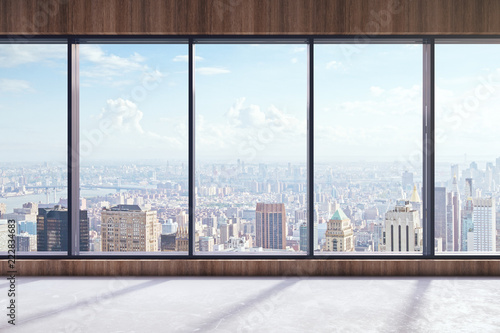 Modern interior with city view