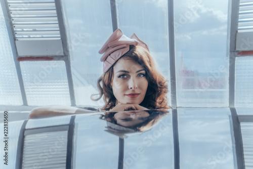 Portrait De Femme Et Coiffure Retro Buy This Stock Photo And