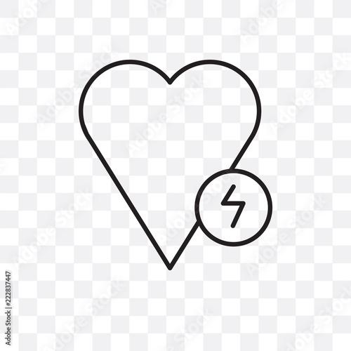 Fototapeta defibrillator icon isolated on transparent background. Simple and editable defibrillator icons. Modern icon vector illustration. obraz na płótnie