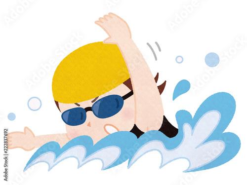 Billede på lærred 水泳選手 女性