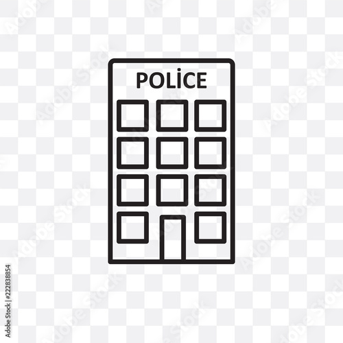 Fotografía  police station icon isolated on transparent background