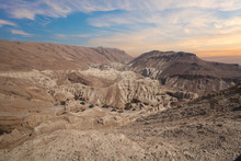 Amazing Landscape Of The Israelian Desert On The Way To The Dead Sea