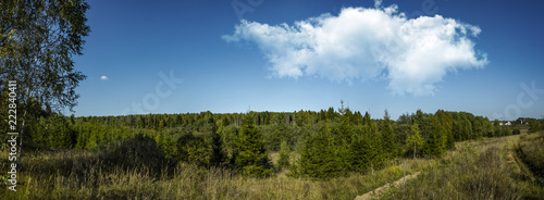 Spoed Foto op Canvas Natuur The nature of a Russian village, Vladimir region, Russia