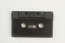 Black Compact Cassette On Whit...