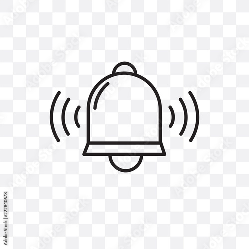 Obraz na plátně  Bell vector icon isolated on transparent background, Bell logo design