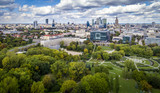 Fototapeta Miasto - Popołudnie nad Polem Mokotowskim