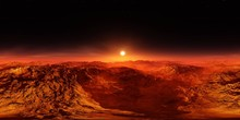 Martian Landscape. HDRI . Equi...