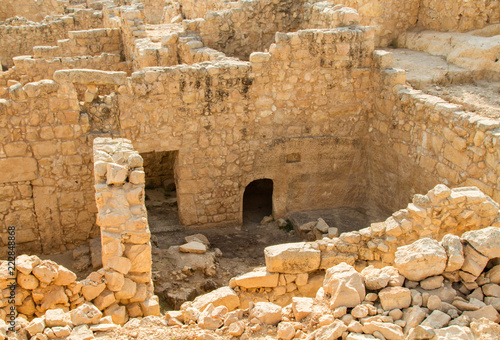 Archaeological site, Tomb of prophet Samuel in Israel Canvas Print
