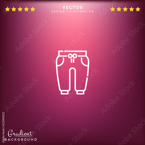 Fotografie, Obraz  Premium Symbol of Trousers Related Vector Line Icon Isolated on Gradient Background