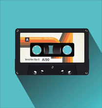 Retro Vintage Cassette Tape Fl...