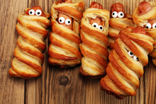 Mummy Sausages Scary Halloween...