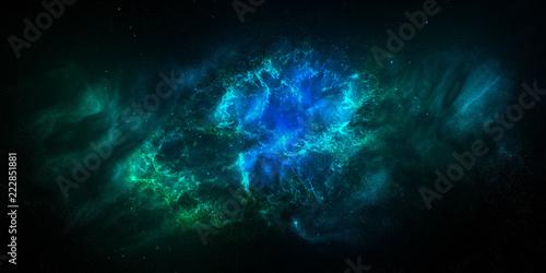 Staande foto Fractal waves star cluster nebula