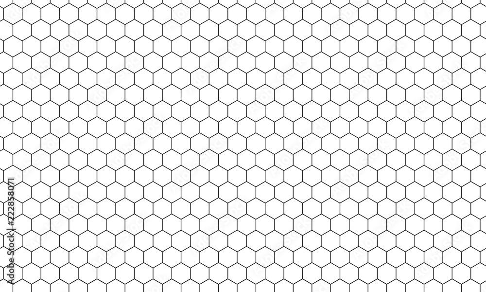 Fototapety, obrazy: Hexagon net pattern vector background